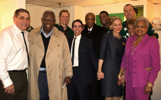 Hank Aaron, Frank Robinson, and the Cast