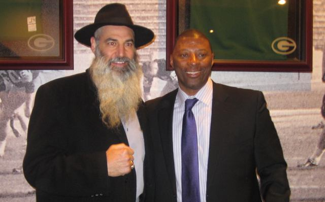Former Green Bay Packer, Alan Veingrad, and former New York Giant Carl Banks