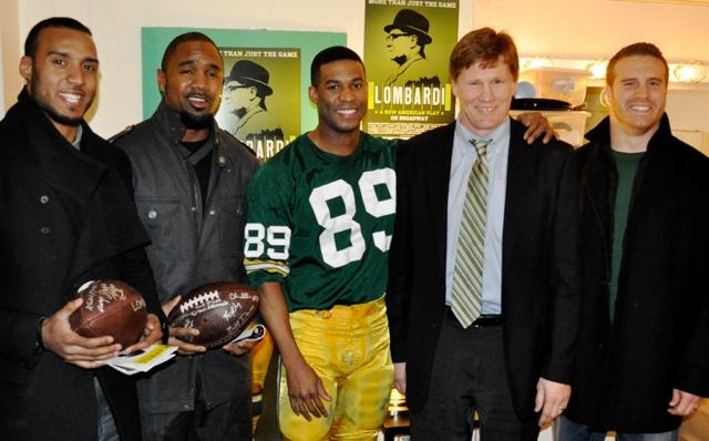 From left: Ryan Grant, Charles Woodson, Robert Christopher Riley, Mark Murphy, John Kuhn