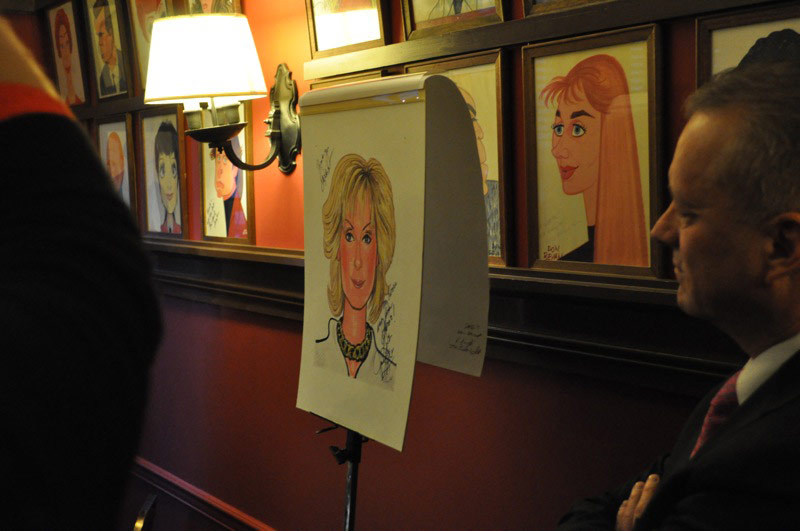 Judith Light's Sardi's Caricature